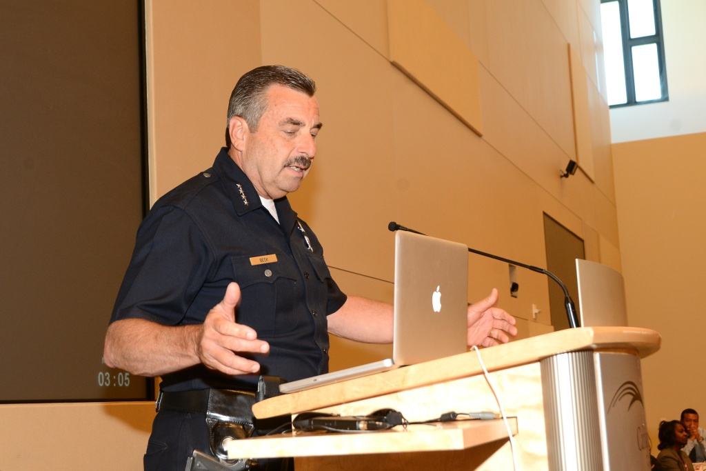Chief of Police Charlie Beck attends the Rape Treatment Center's 2013 Chief's Conference at The California Endowment on May 14, 2013 in Los Angeles, California.