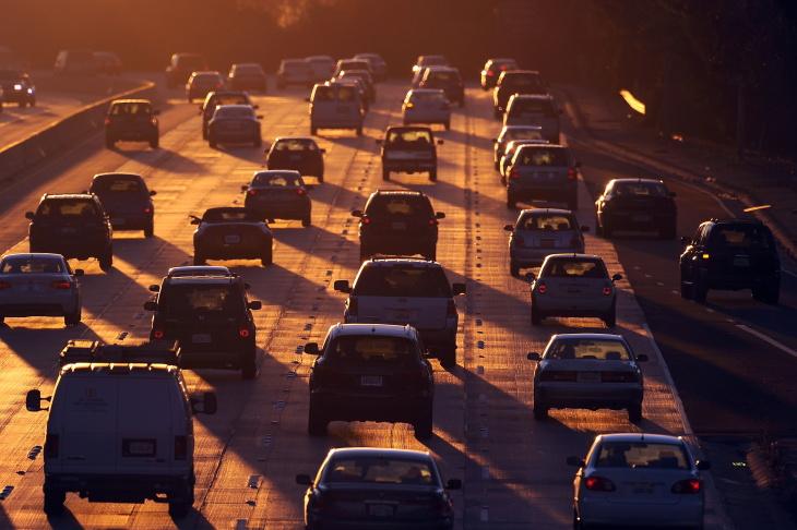 People drive on Highway 134 (Ventura Fre