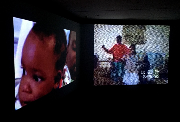 A single moment from the video installation by Kahlil Joseph at MOCA on Grand Avenenue.