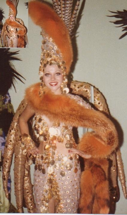 KPCC's Rita Pardue in the Gold Diggers costume from