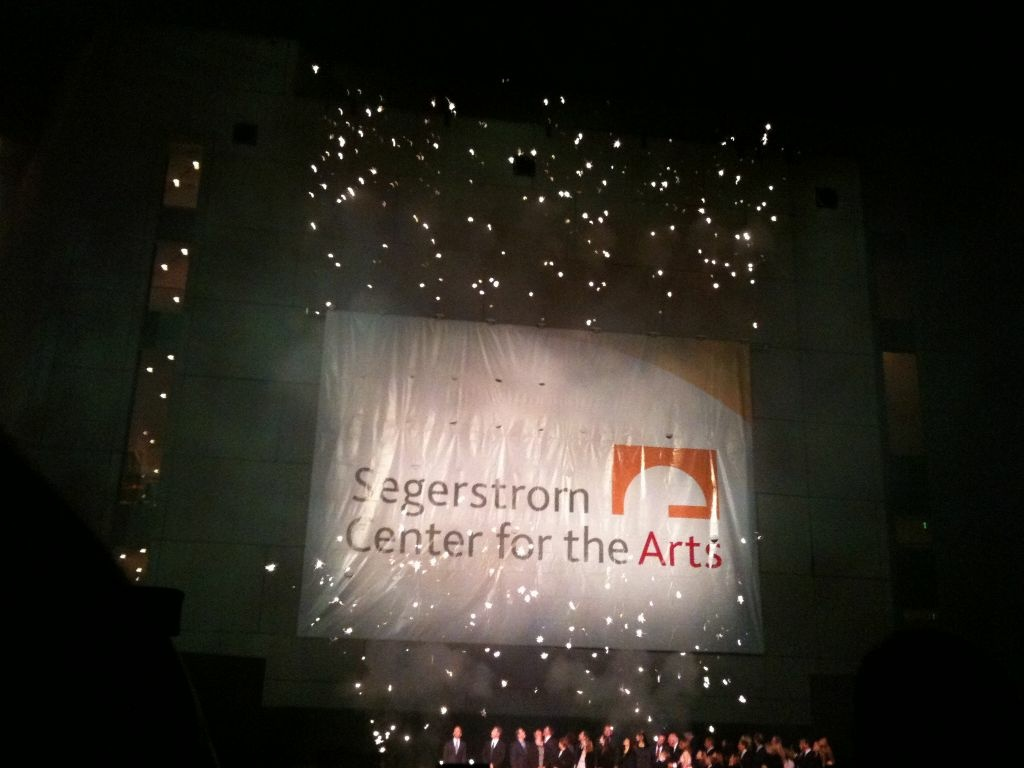 The Segerstrom family celebrated the unveiling of the new name of the Orange County Performing Arts Center on Wendesday night. It will now be called Segerstrom Center for the Arts.