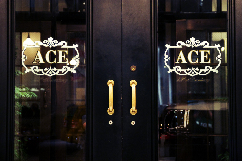 The front doors of the Ace Hotel at 29th Street and Broadway in New York City.