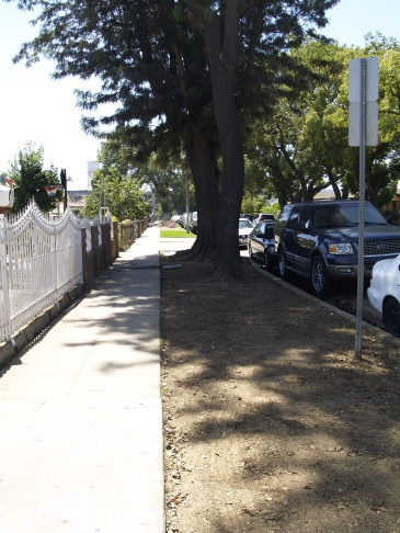 Parkways along La Puerta Street in Boyle Heights were not cleaned up when contamination clean up crews came through to dig up yards and replace sod. The parkways belong to the city and the Department of Toxic Substance Control says it will come back to those if needed later in clean up process.