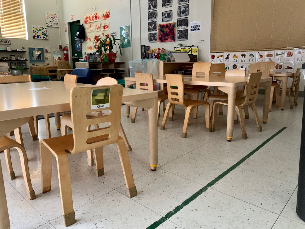 A preschool classroom at the Cal Poly Pomona Children's Center.