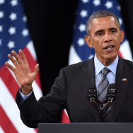 President Barack Obama speaks about his executive immigration order at Del Sol High School in Las Vegas on November 21, 2014. More than two dozen states have filed suit to stop Obama's order from taking effect; the first wave of applicants for temporary legal status and work permits is expected to start signing up for relief next week.