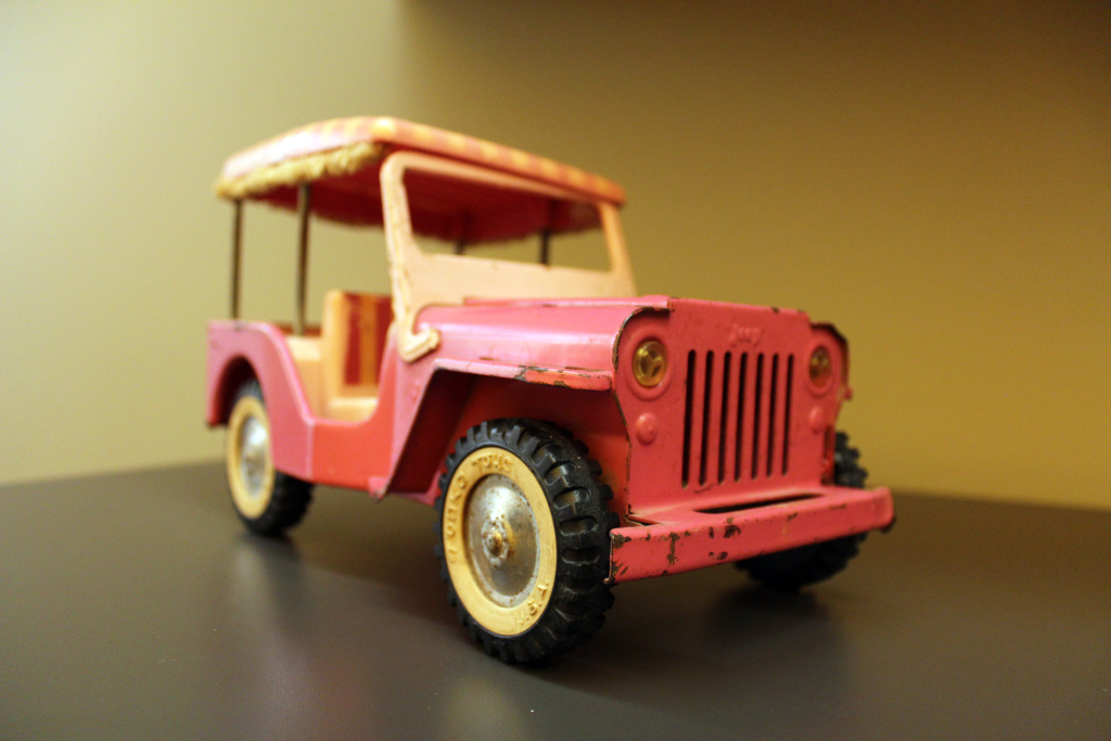 Chris Nichols of LA Magazine's Tonka Jeep model from 1962.