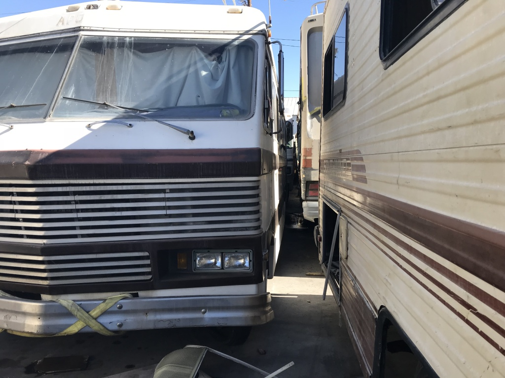 Pepe's L.A. Tow in Wilmington is packed with RV's, towed in from all over the city. There's a backlog of RV's to tow for lack of space to store them. When they go unclaimed, the tow yard auctions them off, often fetching $25-50.