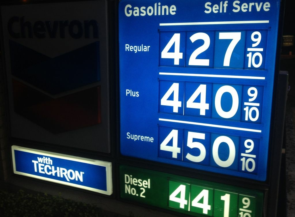 Gasoline prices have jumped nearly 50 cents in the past month in Southern California. The average price of $4.18 for a gallon of self-serve regular in Los Angeles County Wednesday is the highest in California. Orange County's $4.17 a gallon is the fourth highest in the state.