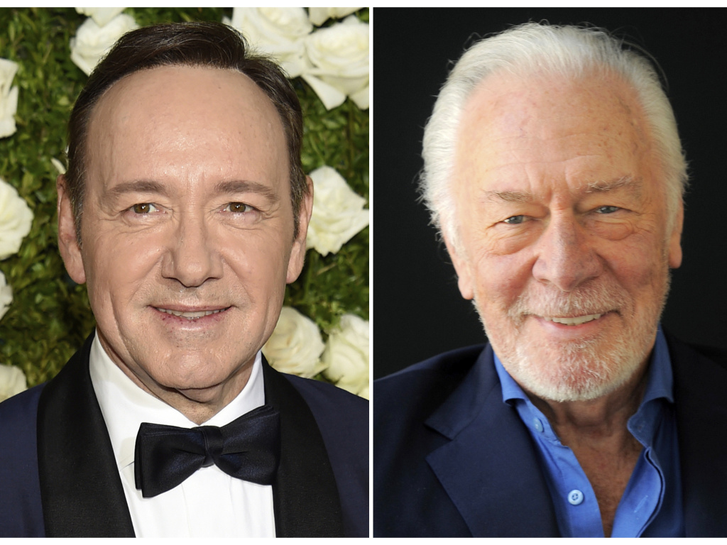 Kevin Spacey at the Tony Awards in New York in June, left, and Christopher Plummer during a portrait session in Beverly Hills, Calif. in July 2013.