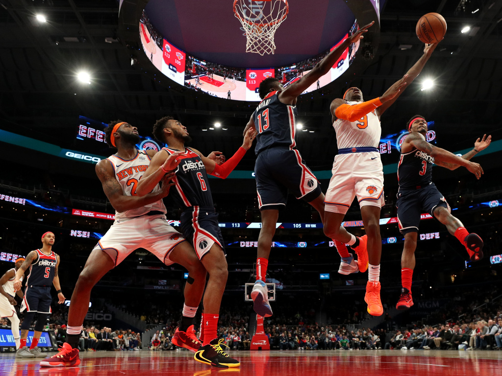 The New York Knicks and Washington Wizards squared off on March 10, 2020 the day before the NBA suspended its season because of the coronavirus.