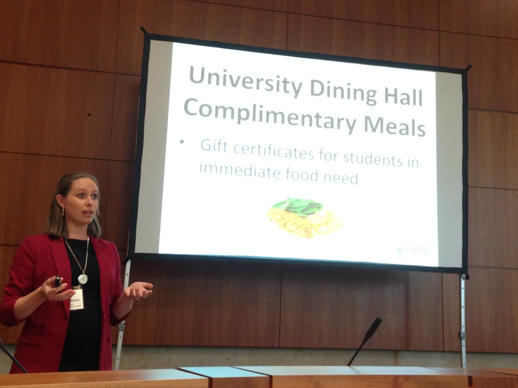Jessica Medina, of Fresno State's Food Security Project, describe's her campuses effort to combat student hunger.