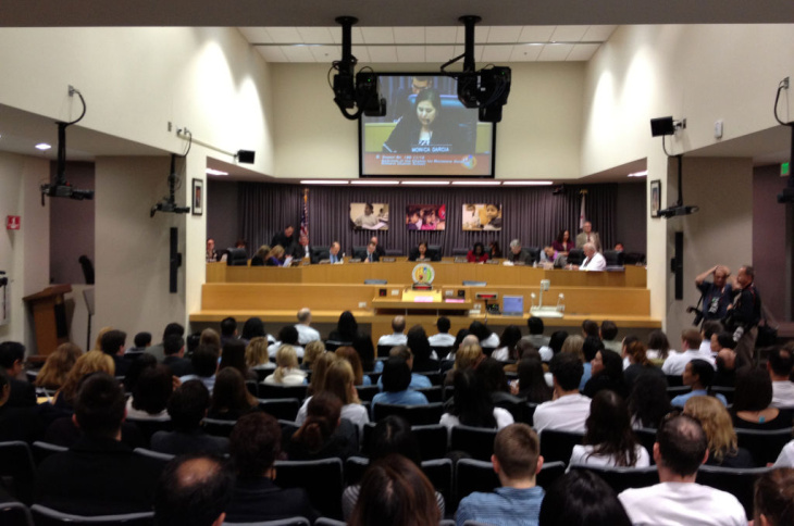 LAUSD board meeting