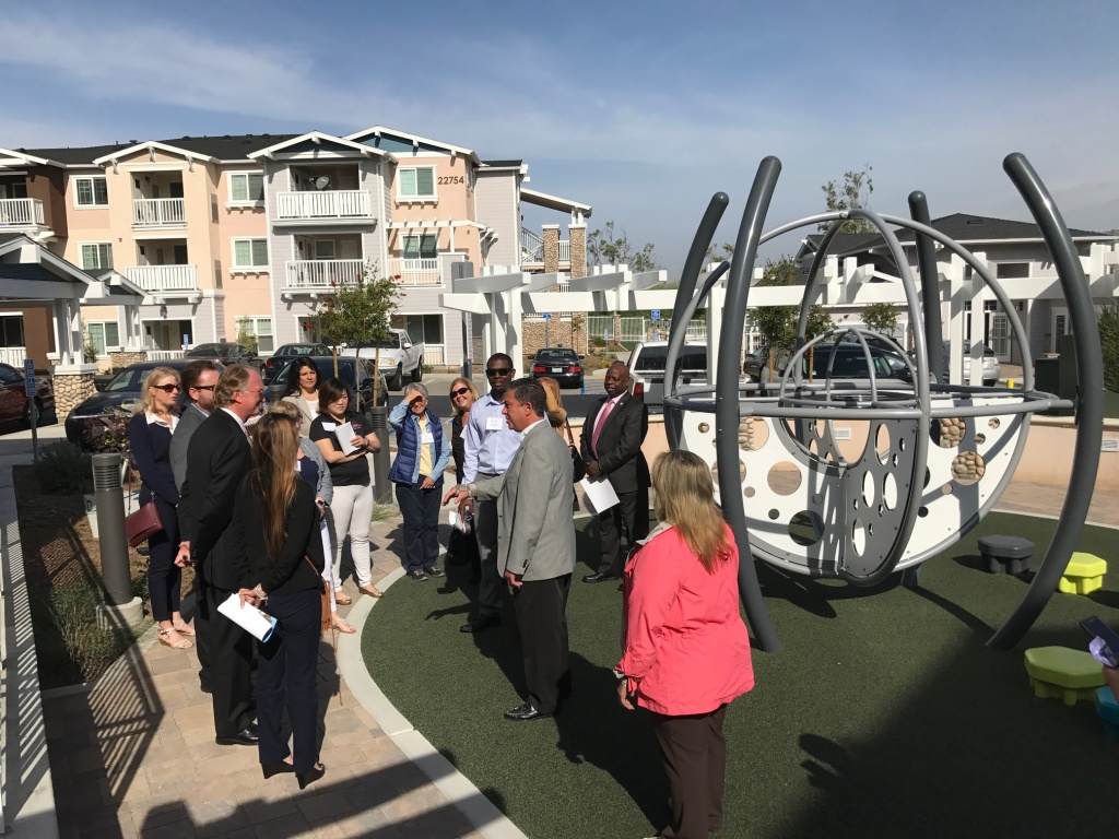 Oakcrest Terrace, a new affordable housing development in Yorba Linda. (Jill Replogle/KPCC)