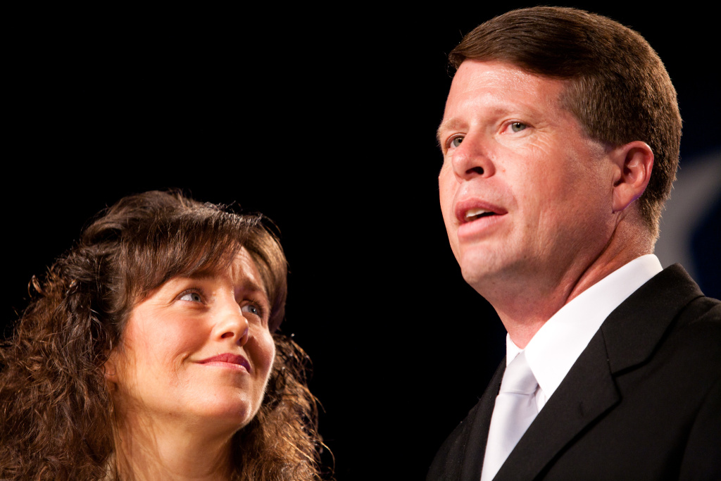 Michelle (L) and Jim Bob Duggar of The Learning Channel TV show