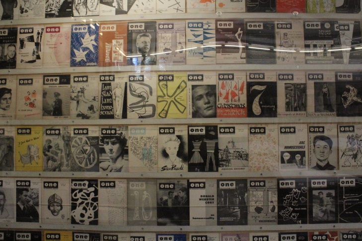 A collection of ONE Magazines at the ONE National Gay & Lesbian Archives at USC.
