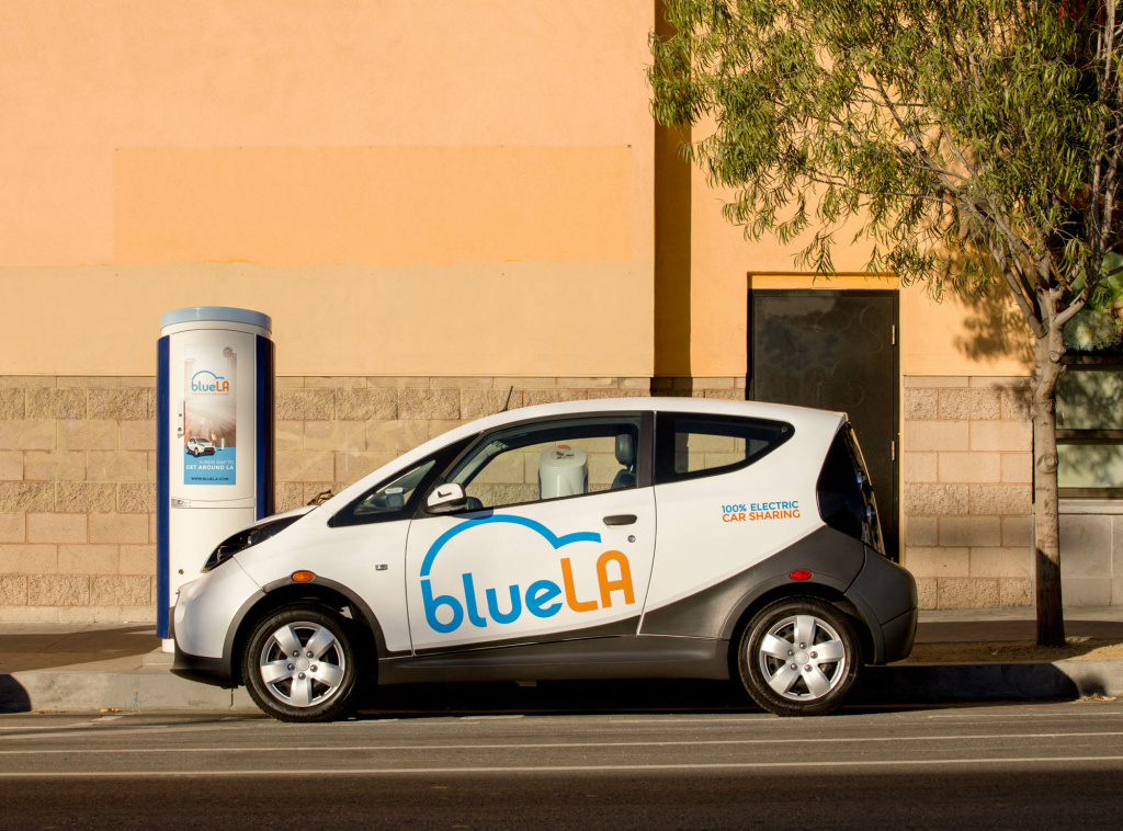 Blue LA is a new car share that rents all-electric cars by the minute.