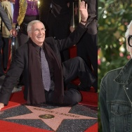 Actor Martin Landau and filmmaker George Romero.
