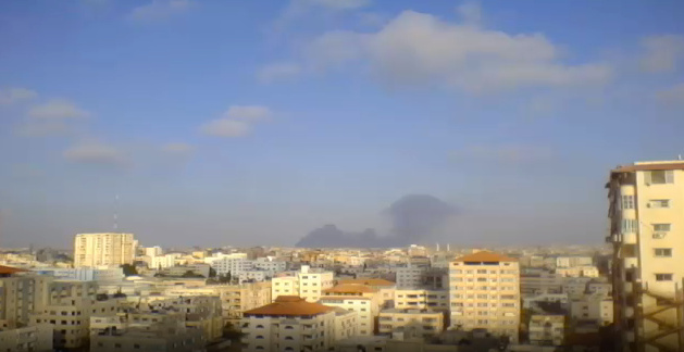 Screen grab taken from the livestream video by Jehad Saftawi on July 23, 2014, Gaza City.