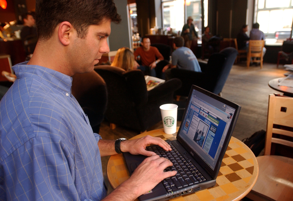 Surfing the Web at Starbucks