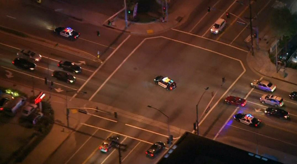 Suspect shot after stealing police car in Los Angeles area