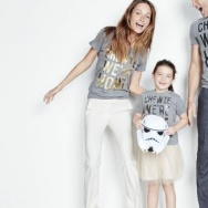 "J Crew is selling t-shirts with the phrase ""Chewie, We're Home,"" one of its many products aimed to tie-in with the new Star Wars film."