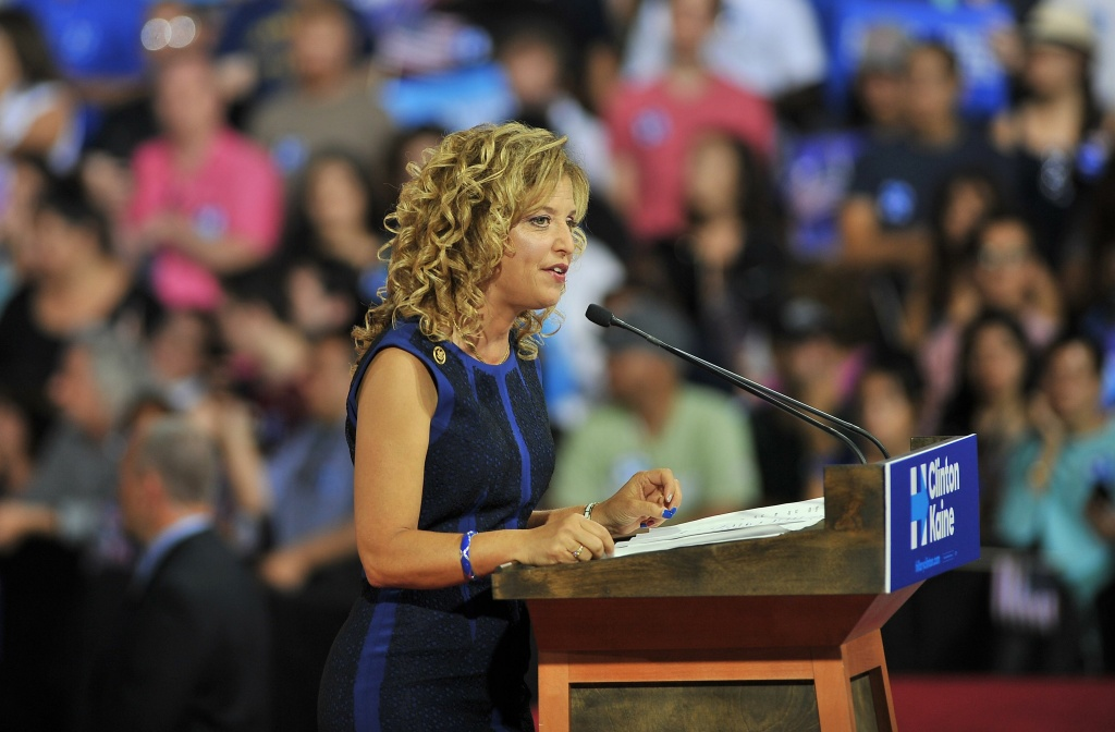 Embattled Democratic Party chair Debbie Wasserman Schultz said July 24, 2016 she is resigning, following a leak of emails suggesting an insider attempt to hobble the campaign of Hillary Clinton's rival in the White House primaries Bernie Sanders.
