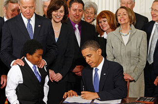 President Obama signed the Affordable Health Care for America Act on March 23, 2010.
