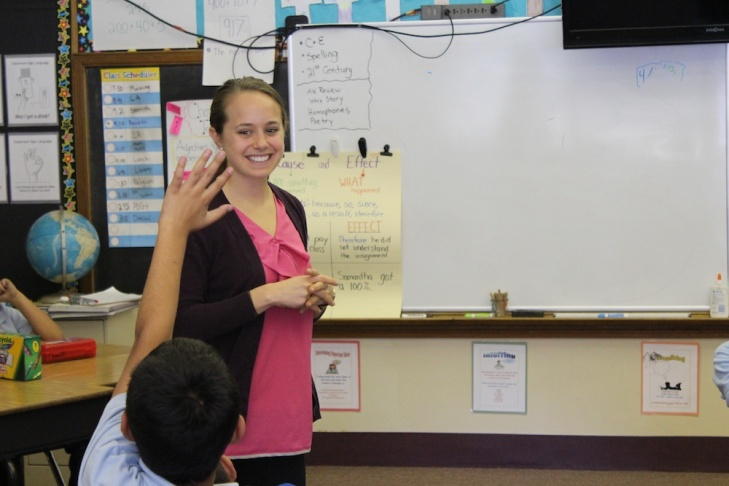 Angelica Izquierdo graduated from the PLACE program and teaches second graders at St. John Chrysostom.