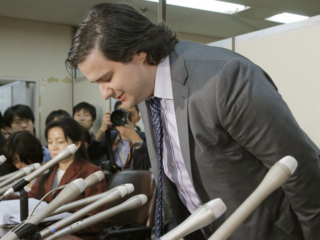 A bow and an apology: Mark Karpeles, CEO of MtGox, was contrite at the start of a news conference in Tokyo on Friday in which it was announced that the firm has filed for bankruptcy.