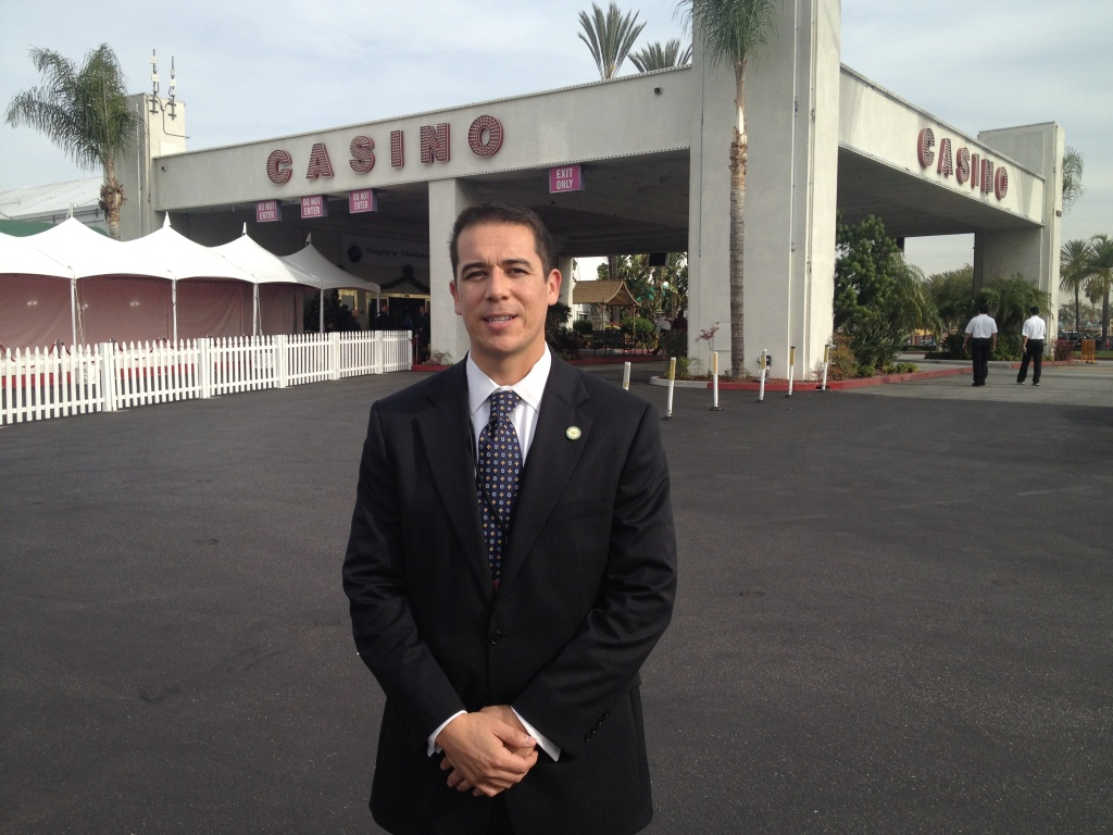Victor Farfan is Mayor of the city of Hawaiian Gardens, home of the casino by the same name.