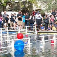 A scene from the Millikan Aquamania competition last year.