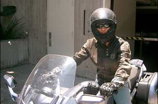 Throttle Jockey Susan Carpenter is suited up and ready to ride.