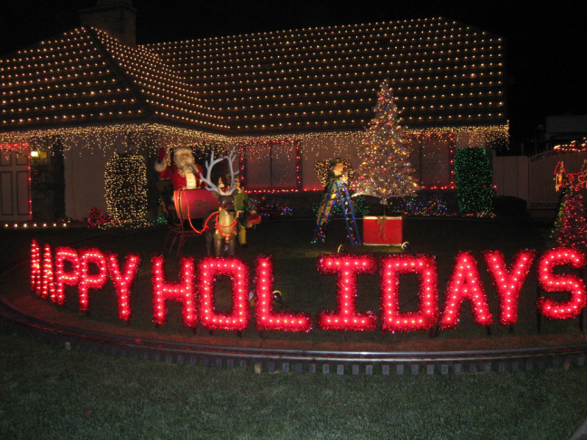 rancho cucamongas thoroughbred street is well known for its annual neighborhood holiday displays - Thoroughbred Christmas Lights