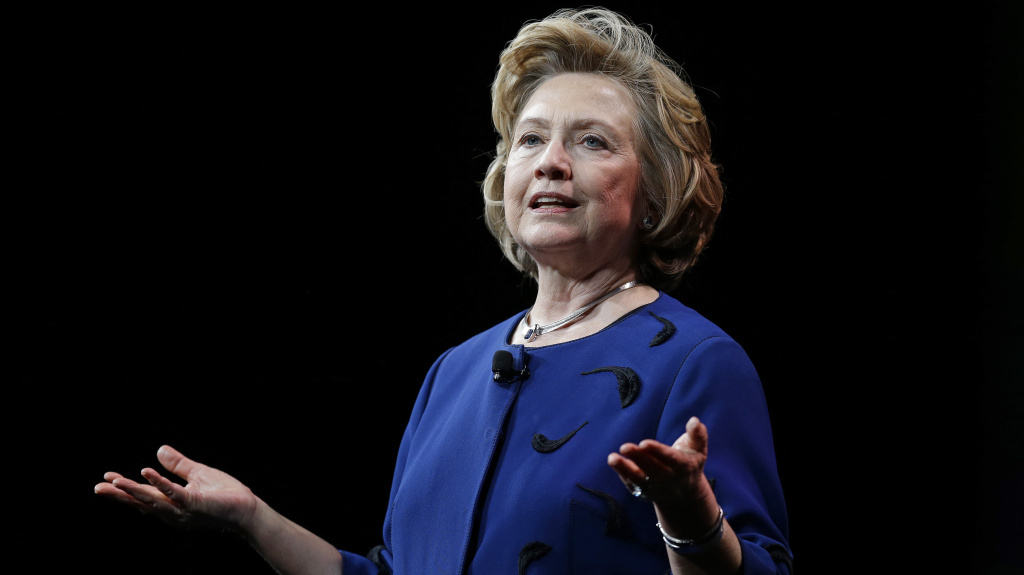 Former Secretary of State Hillary Rodham Clinton delivers a keynote address in San Francisco.