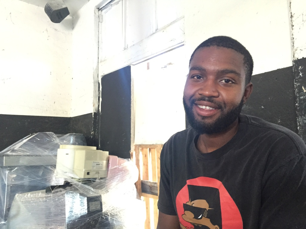 Anthony Collins owns A1 Electronic Recycling in South L.A. His business stopped collecting cans and bottles in 2016.