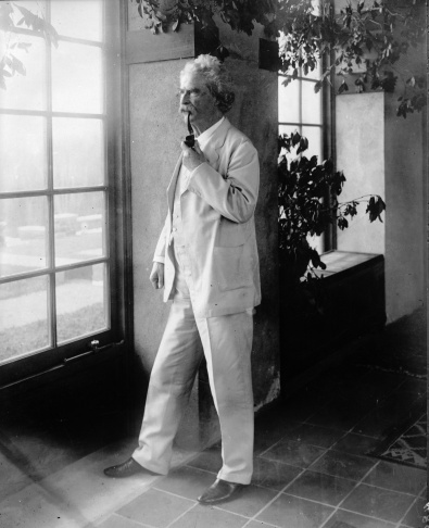 circa 1885: American humourist and writer Mark Twain (1835 - 1910).