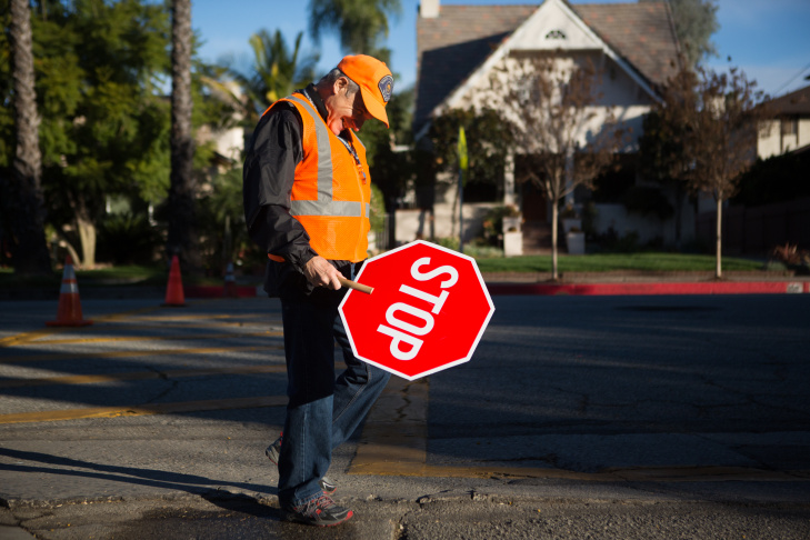 Tony Abdalla is a retired dentist. He likes working with kids and decided to become a crossing guard five years ago.