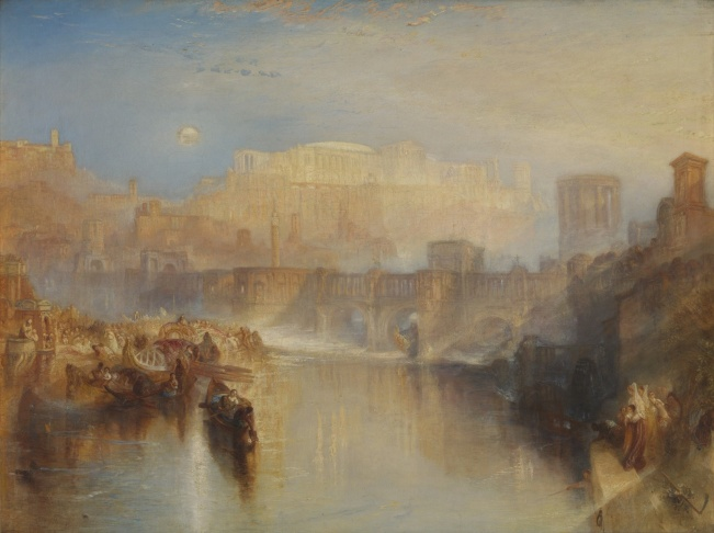 JMW Turner's The Burning of the Houses of Lords and Commons, October 16, 1834, 1834-35