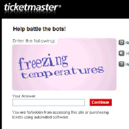 Ticketmaster CAPTCHA