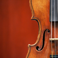 "A 1729 Stradivari known as the ""Solomon, Ex-Lambert"" is on display 27 March, 2007 at Christie's in New York."