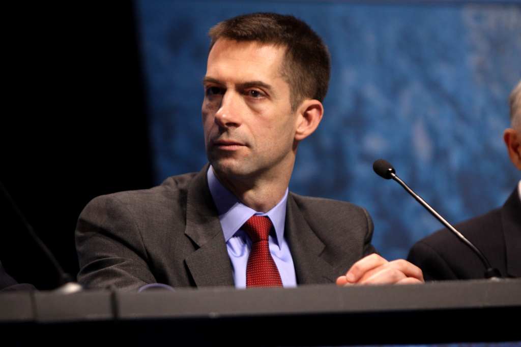 Congressman Tom Cotton of Arkansas speaking at the 2013 Conservative Political Action Conference (CPAC) in National Harbor, Maryland.