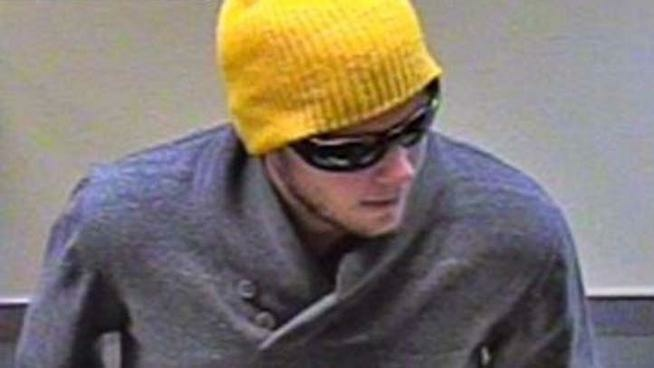Bank footage of the so-called Snowboarder Bandit