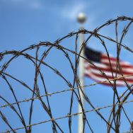 "Razor wire tops the fence of the U.S. prison at Guantanamo Bay, also known as ""Gitmo"" on October 23, 2016 at the U.S. Naval Station at Guantanamo Bay, Cuba."
