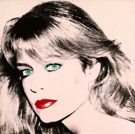 This photo released by courtesy of the Blanton Museum of Art shows Andy Warhol's painting of