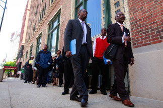 Unemployment in America grinds on as job seekers confront a weak recovery.