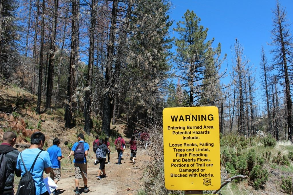 Although some of the Angeles Forest trails have been reopened, they come with warnings of multiple hazards.