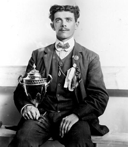 Dorando Pietri trophy 1908 Olympic marathon