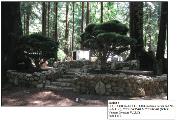 This is what the site where Sean Parker got married looked like before he