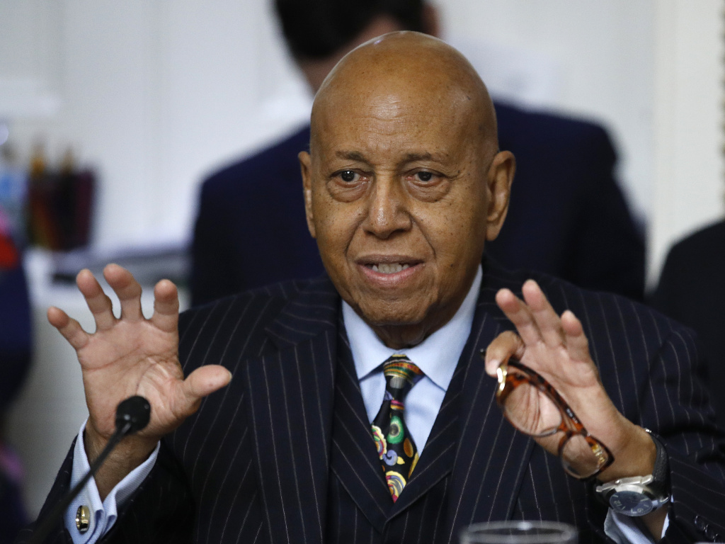Rep. Alcee Hastings, D-Fla., speaks during a House Rules Committee in December 2019. Hastings died this week following a lengthy battle with pancreatic cancer.