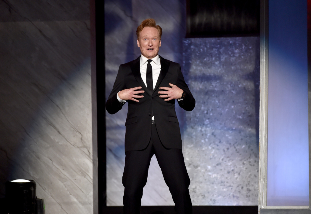 TV personality Conan O'Brien speaks onstage during the 2015 AFI Life Achievement Award Gala Tribute Honoring Steve Martin at the Dolby Theatre on June 4, 2015 in Hollywood, California.